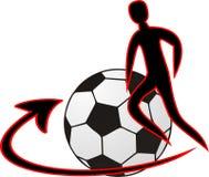 Footbal logo Stock Images