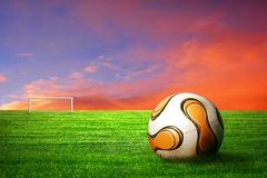 Footbal no surise Foto de Stock