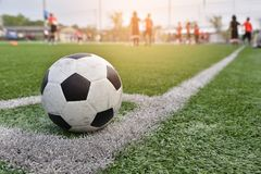 Footbal. Sets at the corner in artificial turf l stadium Royalty Free Stock Photography