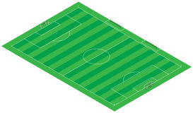Footbal (soccer) 3D Illustration field (stadium) Stock Images