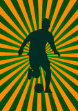 Footbal Spielerhintergrund Lizenzfreies Stockfoto