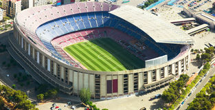 Footbal stadium Nou Camp in Barcelona Stock Photography
