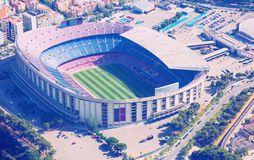 Footbal stadium Nou Camp in Barcelona. Camp Nou, famous footbal stadium in Barcelona of Catalonia, Spain Stock Image