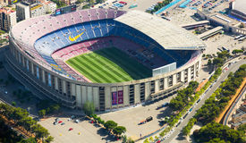 Footbal stadium Nou Camp in Barcelona Royalty Free Stock Photography