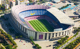 Footbal stadium Nou Camp in Barcelona Royalty Free Stock Image