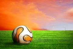 Footbal on surise Stock Images