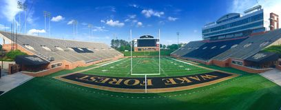Footbal. Wake Forest College football stadium in Winston Salem, NC  wide angle view Stock Photography