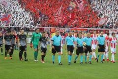 Footbalclub Partizan Belgrado royalty-vrije stock afbeeldingen