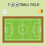 Footbald-Feld Lizenzfreie Stockbilder