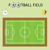 Footbald field Royalty Free Stock Images