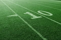 Football 10 Yard Line Royalty Free Stock Images