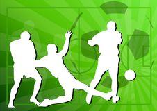 Football. Players on the green background Royalty Free Stock Photography