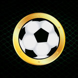 Football. Vector illustration of a football Royalty Free Stock Photography