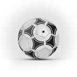 Football. White Football with white background & shadows stock illustration