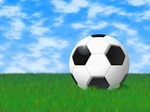 Football. The image of a football in a field on a grass Stock Illustration