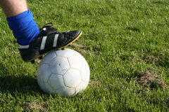 Football. A football and shoe Royalty Free Stock Photography