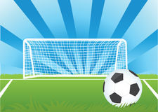 Football. Vector soccer ball. Afirka wave the flag. The football game Stock Photos