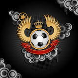 Football. Coat of arms. Vector illustration Royalty Free Stock Photography