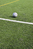 Football. Concept. Green grass and corner lines of a field Stock Photo