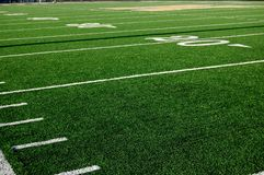 Football 20 Yard Line Stock Image