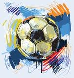 Football. Vector abstract football design illustration Royalty Free Stock Photography