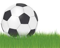 Football. Illustration of football and turf Stock Photo