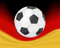 Football. Illustration of football and german flag Royalty Free Stock Photography
