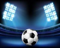 Football. On the stadium. Vector illustration Stock Photography