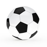 Football. Black white soccer football on white background Royalty Free Stock Photography