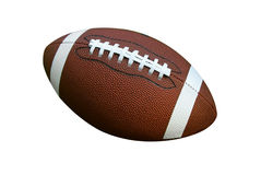 Football. American football isolated over a white background Stock Image