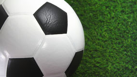 Football. Close up football on green grass Royalty Free Stock Images