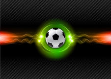 Football. On the electric background Royalty Free Stock Photo