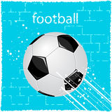 Football. Illustration of a soccer ball in the grunge style Royalty Free Stock Images