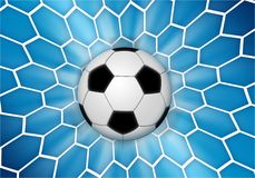 Football 3. Football icon, a ball over a net background vector illustration