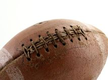Football. Close up of an old worn out football Stock Photos