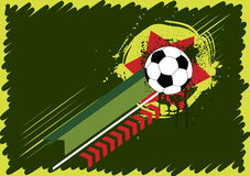 Football illustration stock