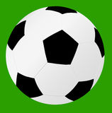 Football. Isolate football with green background Stock Photos