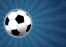Football. Illustration of a soccer ball for football game Royalty Free Stock Photography