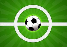 Football. Illustration of a soccer ball for football game Royalty Free Stock Images