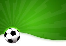 Football. Illustration of a soccer ball for football game Stock Images