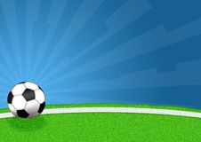 Football. Illustration of a soccer ball for football game Stock Photos