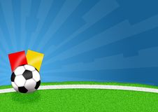 Football. Illustration of a soccer ball for football game Stock Photography