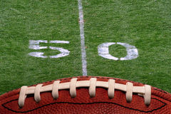 Football 50 yard line Stock Photos