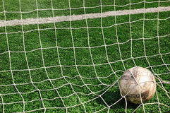Football. A football in the net Stock Images