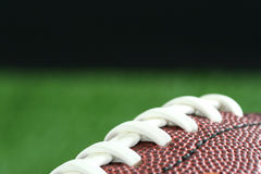 Football. On a field, brown Stock Photo