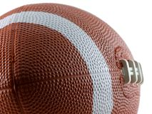 Football. Close up of a football isolated on white Royalty Free Stock Photo
