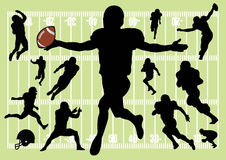 Football. Vector silhouettes of football players Stock Photography