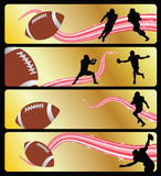 Football. Vector banner illustration for american football Royalty Free Stock Images