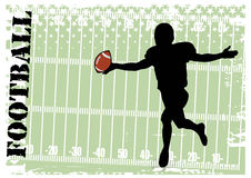 Football. Vector illustration for a football player Royalty Free Stock Photos