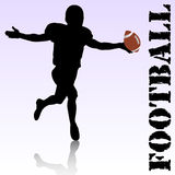 Football. Vector silhouette of a football player Stock Images